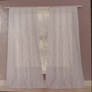 Laura Ashley Vine Panel Pair Sheer Curtains NWT